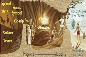 Gabbie Secolari | La finanza, la televisione, la nuova caverna di Platone