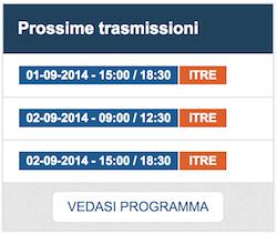 COMMISSIONE ITRE | 1 e 2 settembre 2014: streaming e ordine del giorno