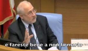TTIP, Stiglitz: Non firmate!