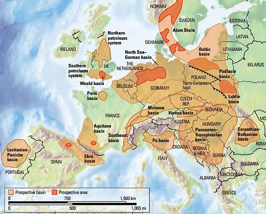mappa fracking europa