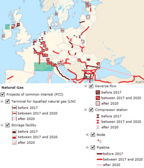 progetti di interesse comune per il gas
