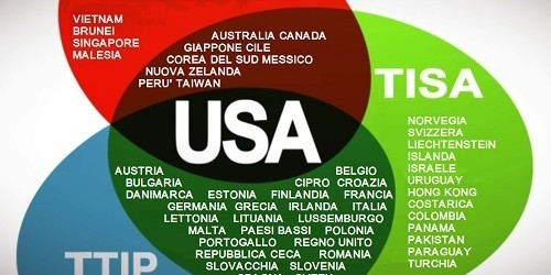 La tenaglia del libero scambio: firmato il TPP, il fratello del TTIP. Aggiornato lo wiki TTIP