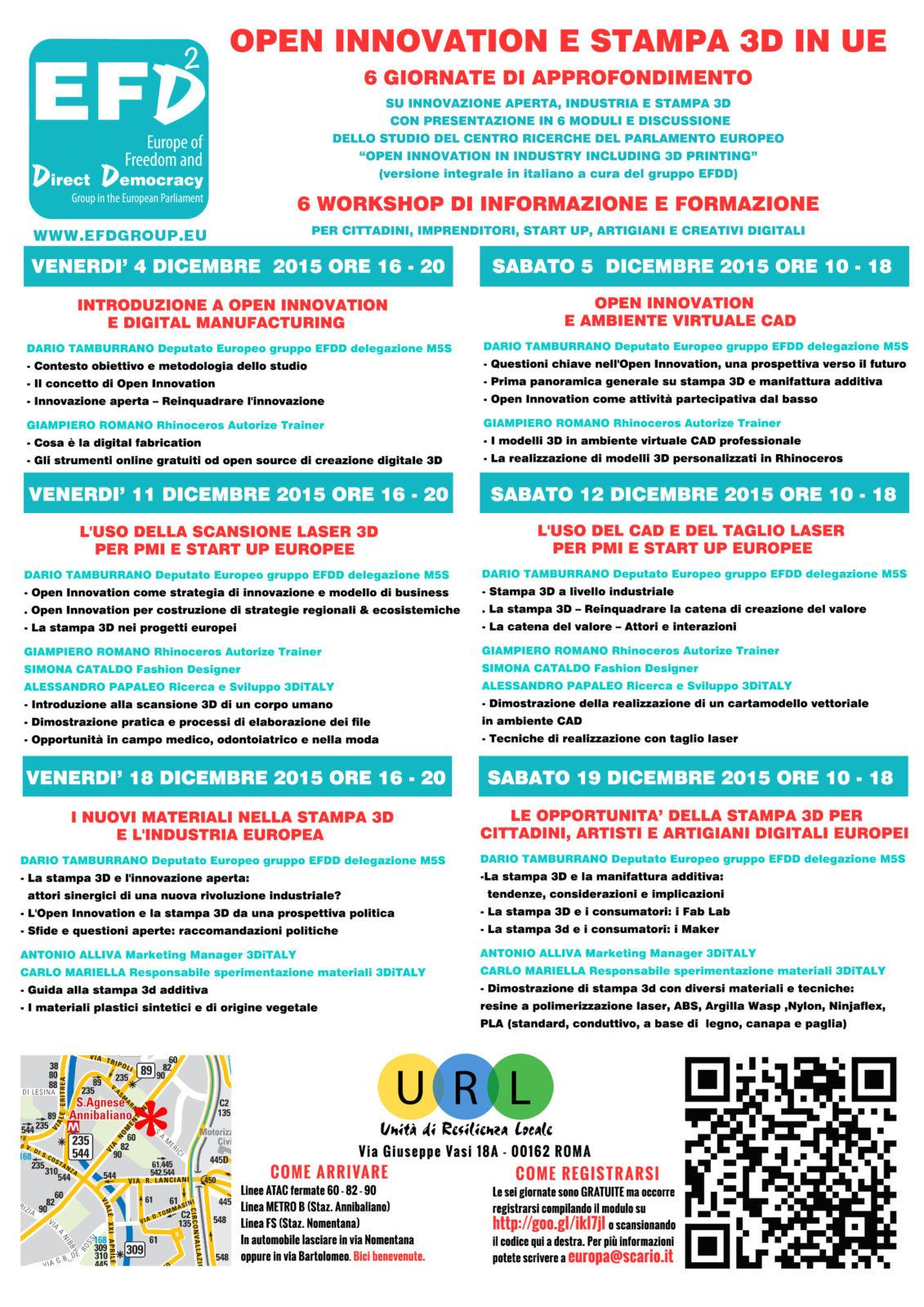 6 giornate di Open Innovation e 3D PRINTING