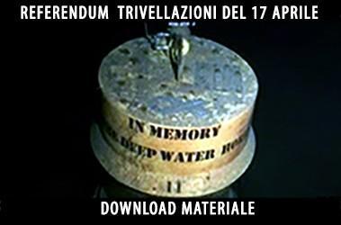 Materiale per referendum del 17 aprile 2016 contro le trivellazioni in mare