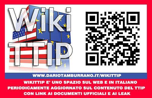 Wiki TTIP aggiornato. Riforma istituzionale camuffata. Nei leak di Greenpeace le aggressive pretese USA.
