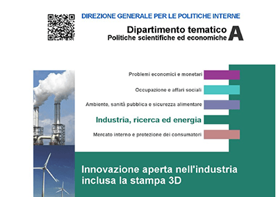 L'innovazione aperta nell'industria e la stampa 3D. Studio tradotto in italiano