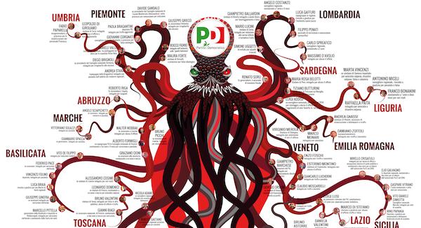 Poster piovra PD. Download per stampa in alta risoluzione