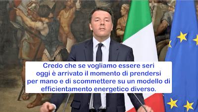 In prima linea contro lo spreco di energia, disse Renzocchio. Salvo poi remare contro le nuove etichette energetiche UE