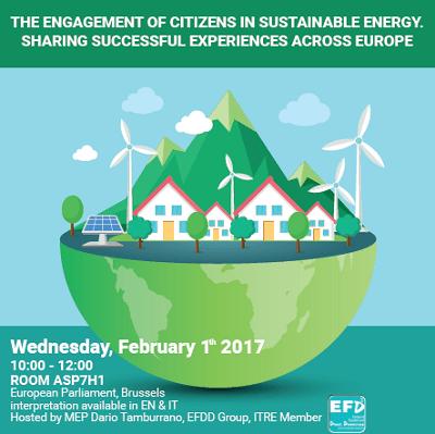 Arriva al Parlamento Europeo l'energia pulita che viene dal basso
