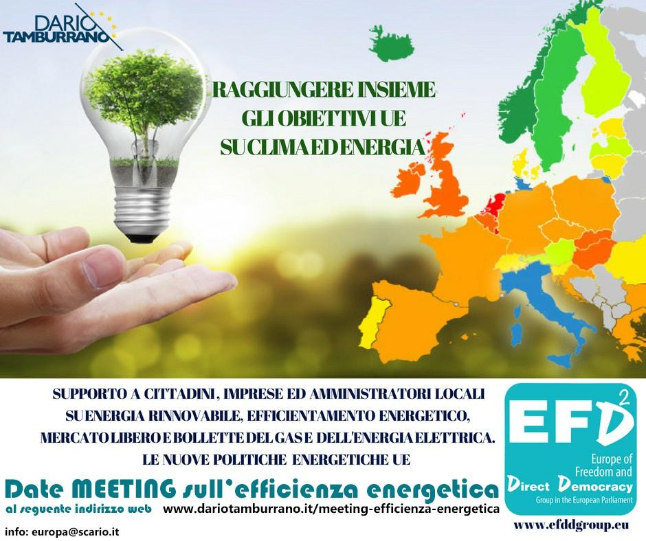 Meeting sull'efficienza energetica