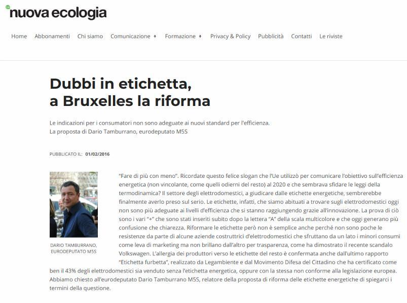Dubbi in etichetta, a Bruxelles la riforma