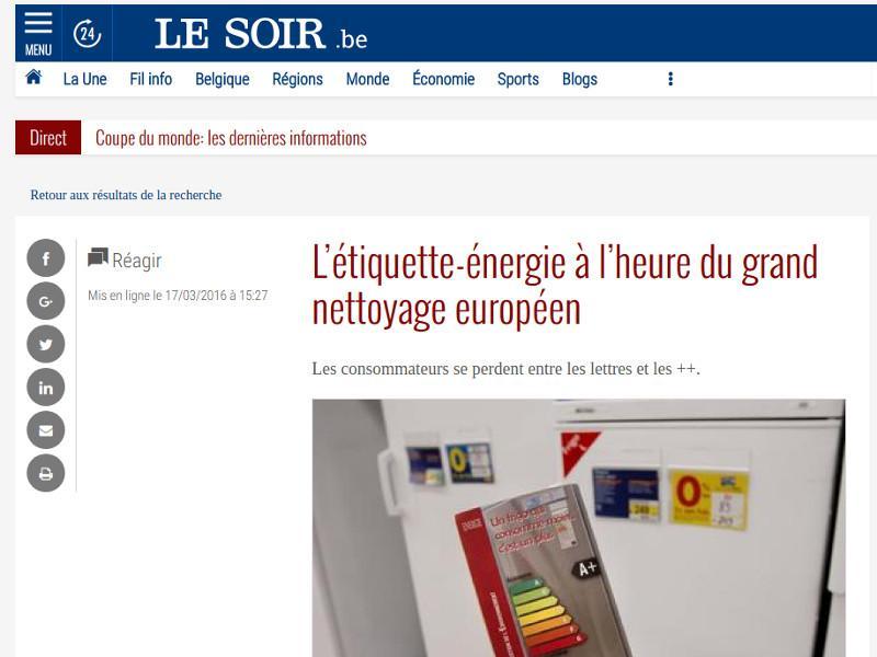L'étiquette-énergie à l'heure du grand nettoyage européen