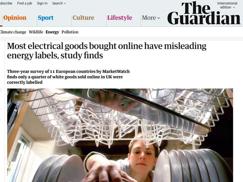 Most electrical goods bought online have misleading energy labels, study finds
