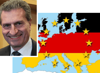 Il commissario europeo Oettinger e i buoni affari della Germania