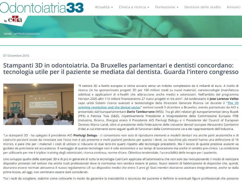 Stampanti 3D in odontoiatria, tecnologia utile per il paziente se mediata dal dentista.