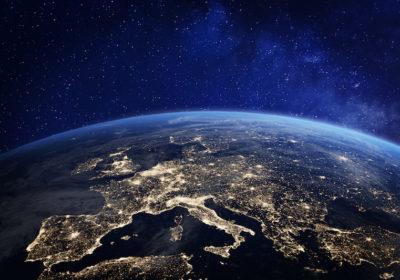 l'Europa vista dallo spazio