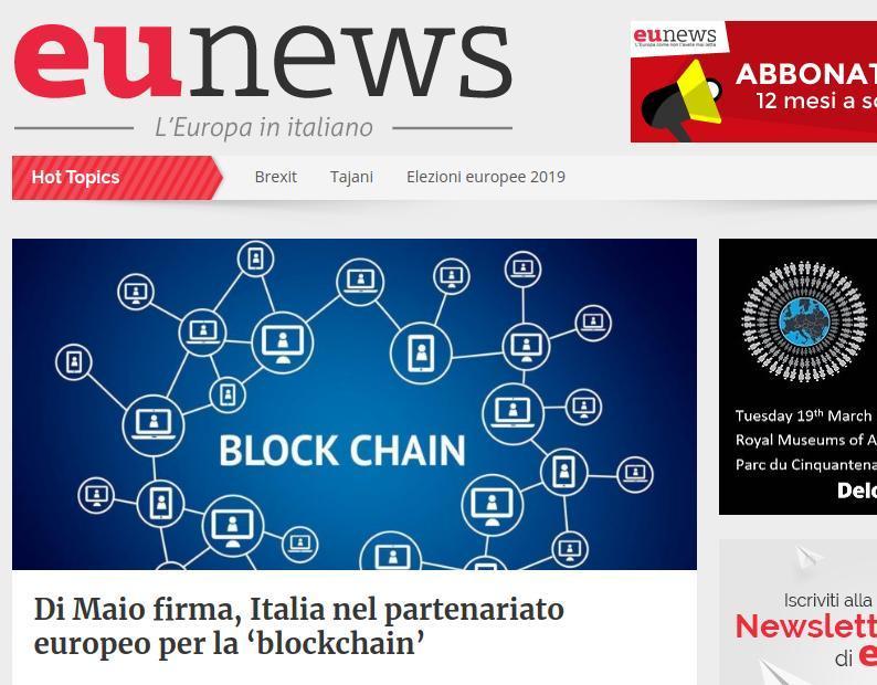 Di Maio firma, Italia nel partenariato europeo per la 'blockchain'