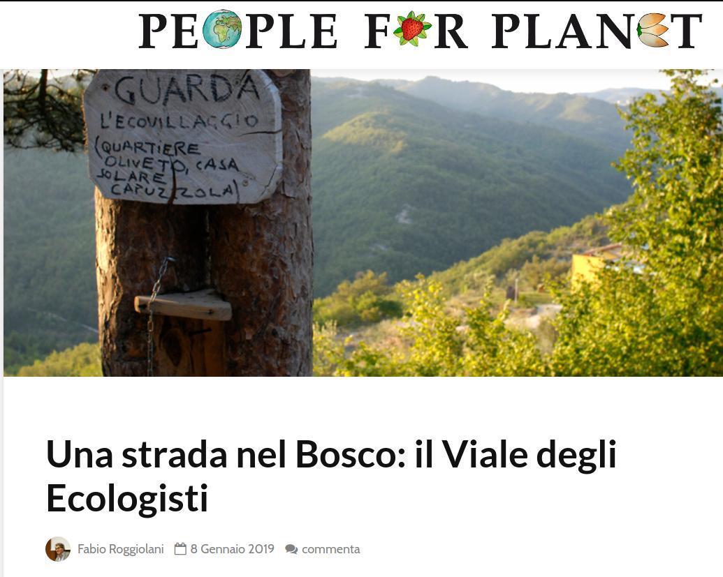 Una strada nel Bosco: il Viale degli Ecologisti
