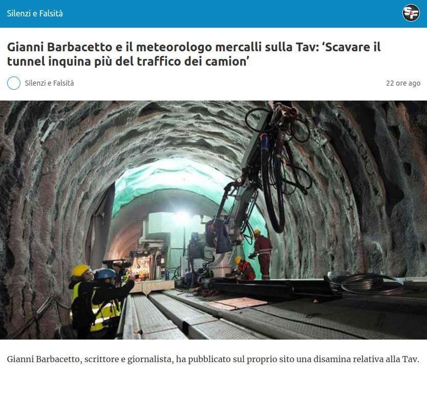 Gianni Barbacetto e il meteorologo mercalli sulla Tav: 'Scavare il tunnel inquina più del traffico dei camion'