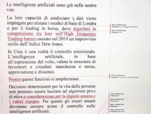 DICHIARAZIONE voto DARIO su Intelligenza artificiale