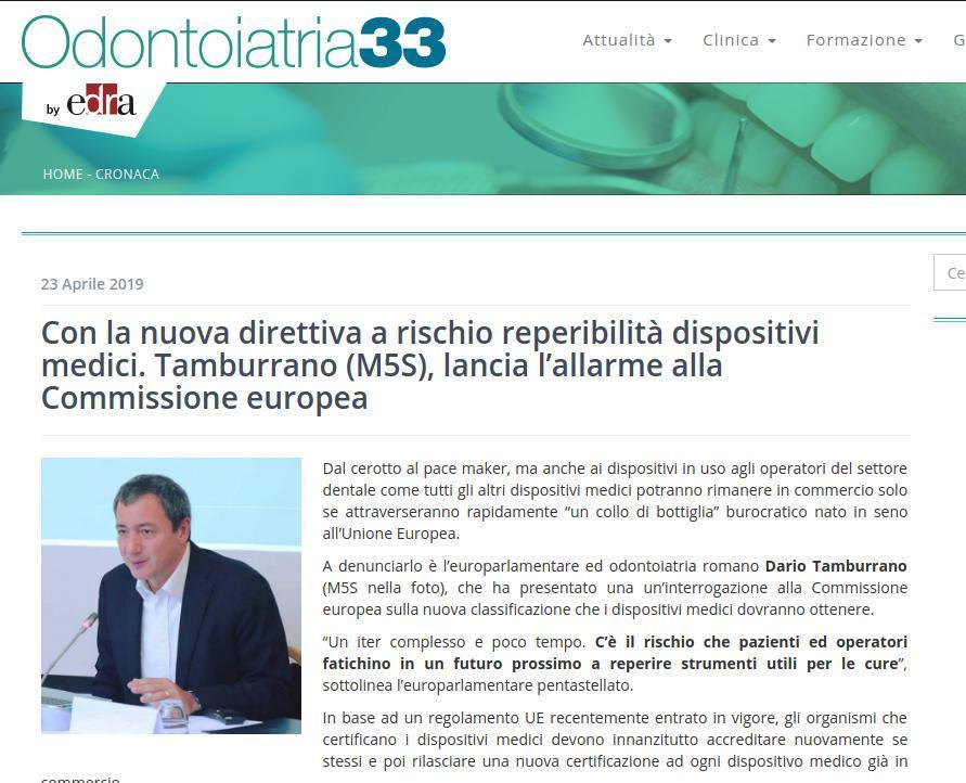 Con la nuova direttiva a rischio reperibilità dispositivi medici