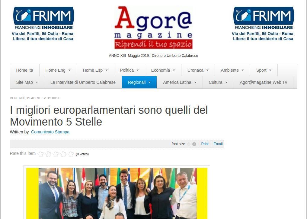 I migliori europarlamentari sono quelli del Movimento 5 Stelle
