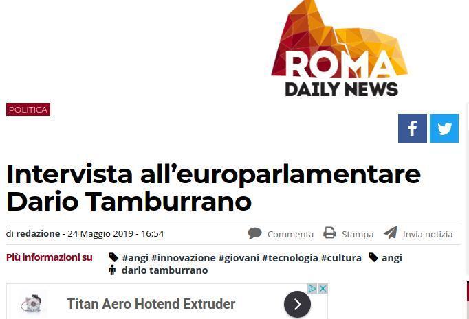 Intervista all'europarlamentare Dario Tamburrano